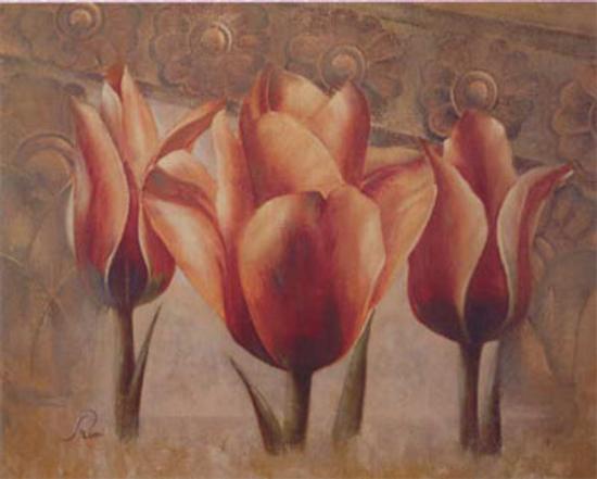 Triple Tulip III-Rumi-Art Print