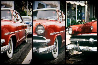 Triptych Collection - Classic Antique Ford of Art Deco District - Miami - Florida-Philippe Hugonnard-Photographic Print