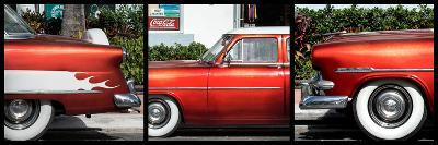 Triptych Collection - Classic Ford Cars of South Beach - Miami - Florida-Philippe Hugonnard-Photographic Print