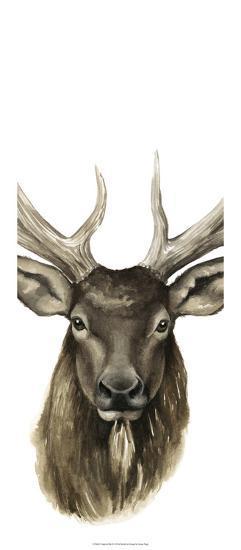 Triptych Elk II-Grace Popp-Art Print