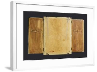 Triptych Icon of the Virgin and Child with Saints--Framed Giclee Print