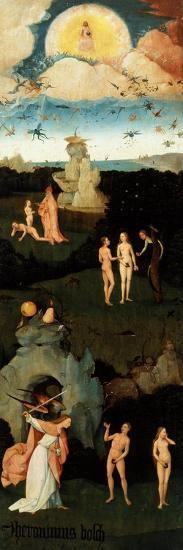 Triptych of the Haywain, Left-Hand Panel with the Original Sin-Hieronymus Bosch-Giclee Print