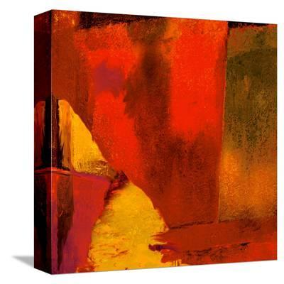 Triptych Red Wassily I-Petro Mikelo-Stretched Canvas Print