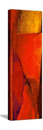 Triptych Red Wassily II-Petro Mikelo-Stretched Canvas Print