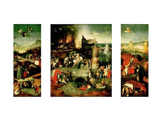 Triptych: the Temptation of St. Anthony-Hieronymus Bosch-Giclee Print