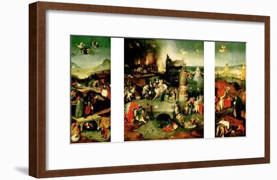 Triptych: the Temptation of St. Anthony-Hieronymus Bosch-Framed Giclee Print