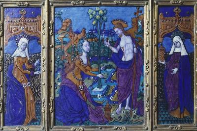 Triptych with Stories of Jesus, Enamel, 16th Century--Giclee Print