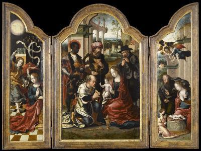 Triptyque de l'Adoration des mages-Pieter Coecke van Aelst-Giclee Print