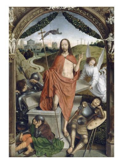 Triptyque de la résurrection (Résurrection, Martyre de Saint Sébastien, l'Ascencion)-Hans Memling-Giclee Print