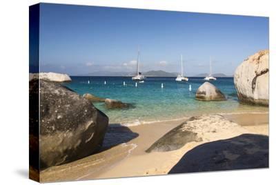 Bvi, Virgin Gorda, the Baths NP, Coastal Beach and Sail Boats