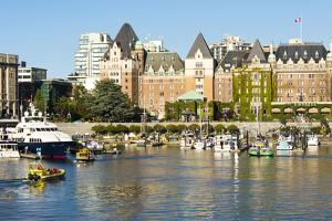 Canada, British Columbia, Victoria. Marina by Trish Drury