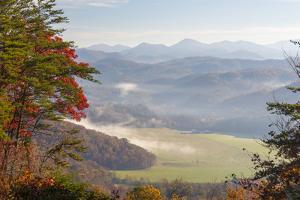 Fog in Valleys Smoky Mountain National Park Viewed from Foothills Parkway by Trish Drury