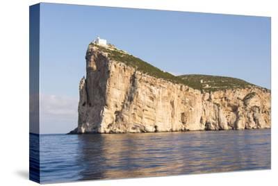 Italy, Sardinia, Capo Caccia Headland with Lighthouse 610 Feet Off Water