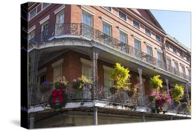 LA, New Orleans. Buildings with Balcony Gardens at Jackson Square
