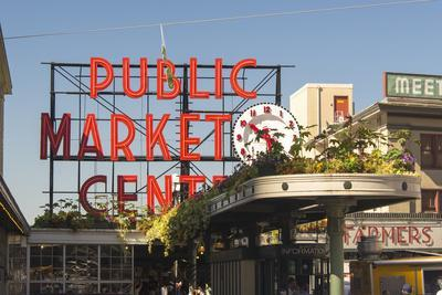 USA, Washington, Seattle. Pike Place Market Built in 1907