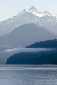 USA, Washington State. Morning calm Baker Lake under Mt. Shuksan by Trish Drury
