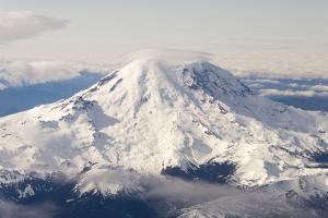 USA, Washington State, Mt Rainier with Cap Cloud by Trish Drury