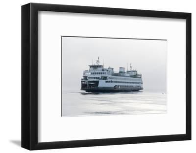 Washington State, Puget Sound. Ferry with Dense Fog Bank Limiting Visibility