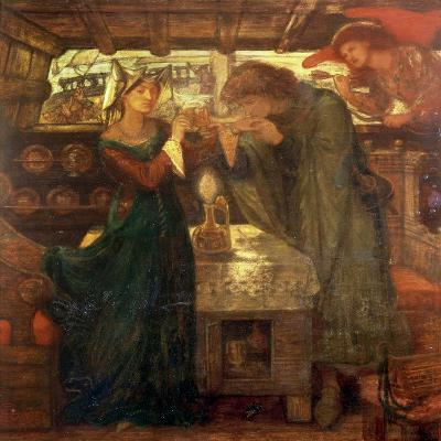 Tristram and Isolde Drinking the Love Potion, 1867-Dante Gabriel Rossetti-Giclee Print