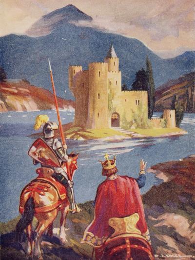 Tristram and King Arthur--Giclee Print