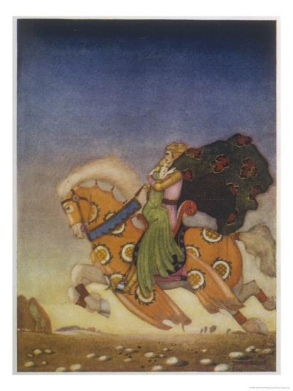 Tristram Carries Isolde Away to be His Uncle's Wife- Mackenzie-Giclee Print