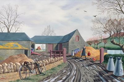 Barns in Winter, 1943