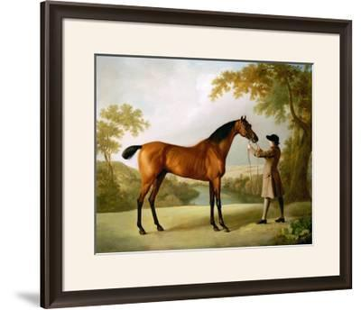 Tristram Shandy, a Bay Racehorse Held by a Groom in an Extensive Landscape, circa 1760-George Stubbs-Framed Giclee Print