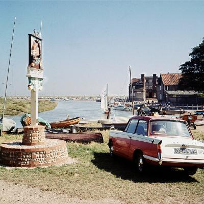 Triumph Herald Car on Norfolk Coastline, 1966-Malcolm MacNeil-Photographic Print
