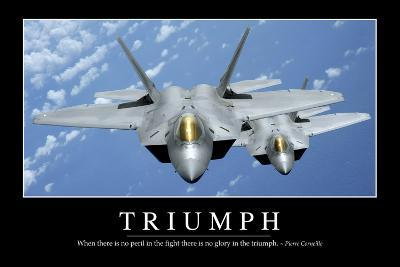 Triumph: Inspirational Quote and Motivational Poster--Photographic Print