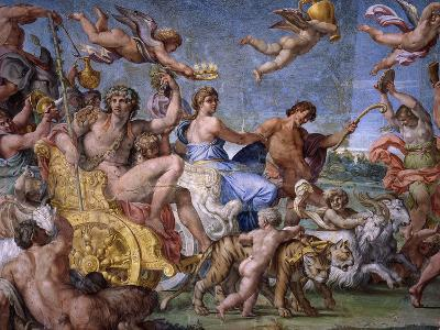 Triumph of Bacchus and Ariadne, from Loves of the Gods Frescos-Annibale Carracci-Giclee Print
