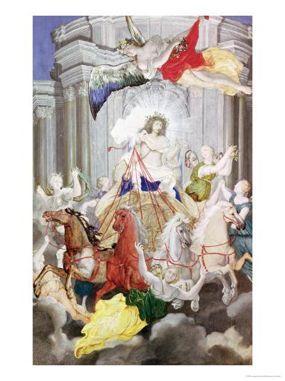 Triumph of King Louis XIV (1638-1715) of France Driving the Chariot of the Sun Preceded by Aurora-Joseph Werner-Giclee Print