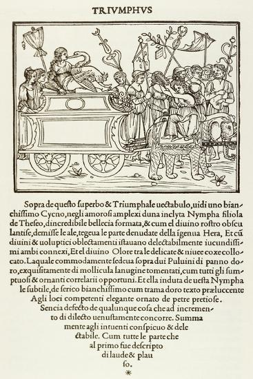 Triumph of Polifilo, Woodcut from Poliphilo's Strife of Love in Dream--Giclee Print
