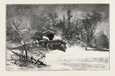 Triumph of the Snow-Plough, Canada, Nineteenth Century--Giclee Print