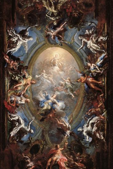 Triumph of Virtue-Giacomo Del Po-Giclee Print