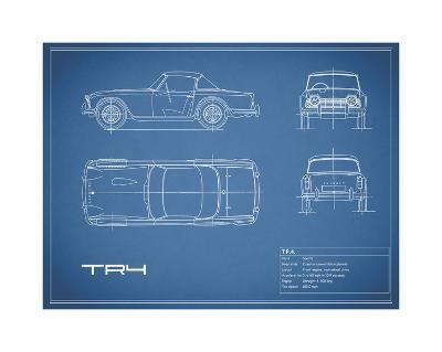 Triumph TR4-Blue-Mark Rogan-Giclee Print