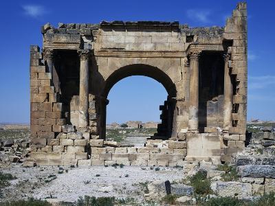 Triumphal Arch of Septimius Severus Dedicated in 195 Ad in Ancient Roman City of Ammaedara--Giclee Print
