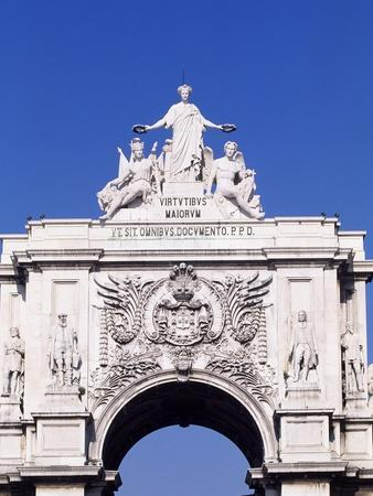 Triumphal Arch or Arch of Rua Augusta in Commerce Square--Giclee Print