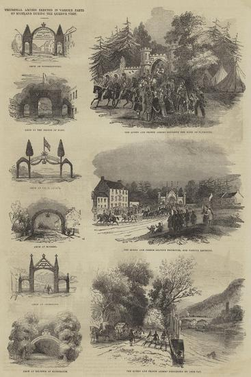 Triumphal Arches Erected in Various Parts of Scotland During the Queen's Visit--Giclee Print