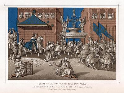 Triumphal Entry of Charles VII, King of France, into Paris, C1435--Giclee Print