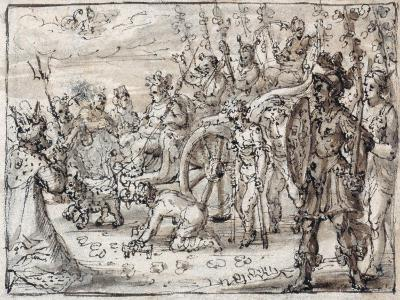 Triumphal Entry of the Indian Bacchus into Thebes-Crispin I De Passe-Giclee Print