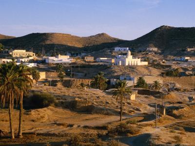 Troglodyte Dwellings Above Ground, Matmata, Tunisia-Peter Ptschelinzew-Photographic Print