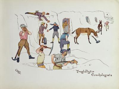 Troglodytic Conchologists, from 'The Leaguer of Ladysmith', 1900-Captain Clive Dixon-Giclee Print