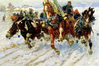 Troika, 1917-Nikolai Samokish-Giclee Print