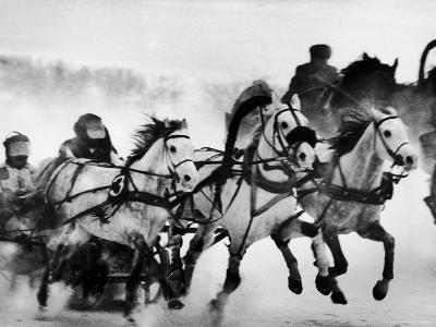 Troika Race at Hippodrome-Stan Wayman-Photographic Print