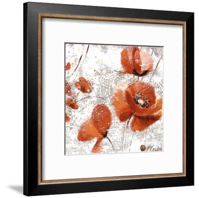Trois Coquelicots-Pascal Cessou-Framed Art Print