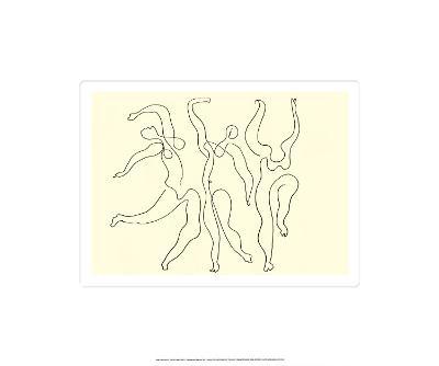 Trois Danseuses, c.1924-Pablo Picasso-Serigraph