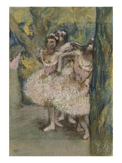 Trois danseuses en jupes saumon-Edgar Degas-Giclee Print