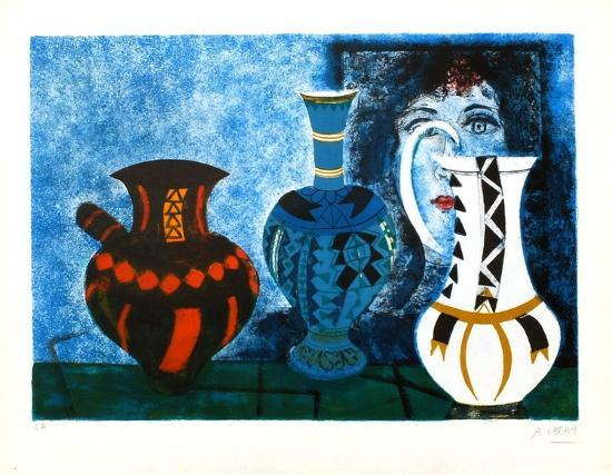 Trois vases-Agustin Ubeda-Collectable Print