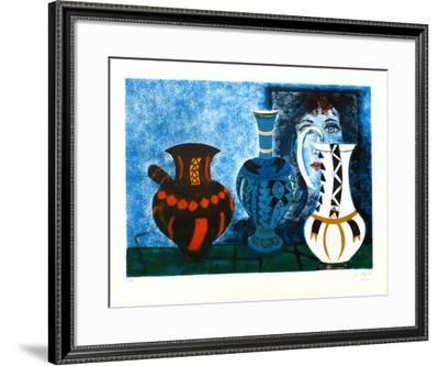 Trois vases-Agustin Ubeda-Framed Collectable Print