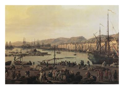 Troisième vue de Toulon, vue du vieux port, prise du côté des magasins au vivres-Claude Joseph Vernet-Giclee Print